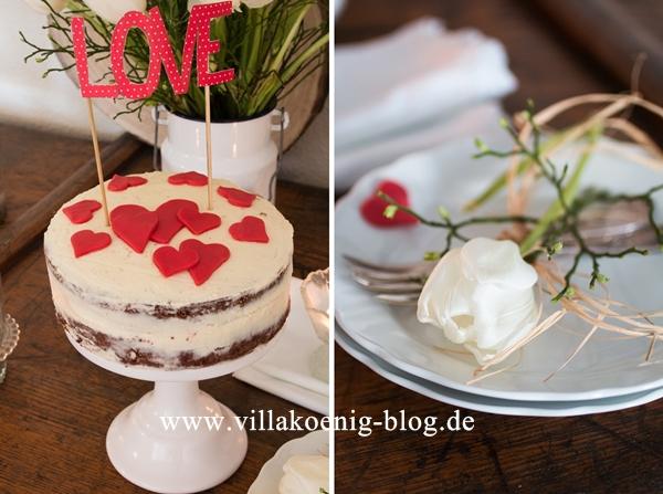 kleiner kuchen zum valentinstag villa k nig. Black Bedroom Furniture Sets. Home Design Ideas